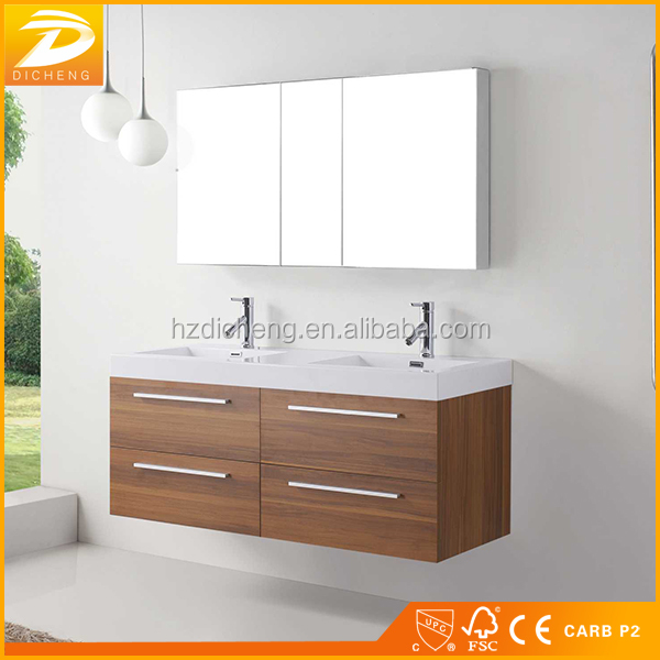 Double Sink Modern Style Cheap Wall Mounted Wholesale Bathroom <strong>Cabinet</strong>