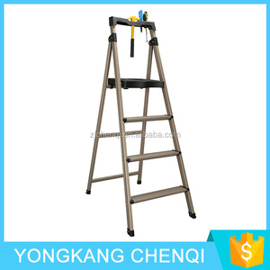 Wholesale High Quality Household Foldable Multi-use Four Steps Folding Aluminum Ladder LA001