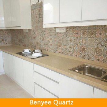 Beige Quartz Stone Precut Kitchen Countertops Buy Precut Kitchen Countertops Quartz Stone