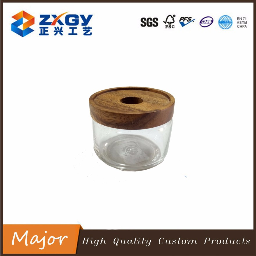 2017 round carving natural teak wooden lid for covering container