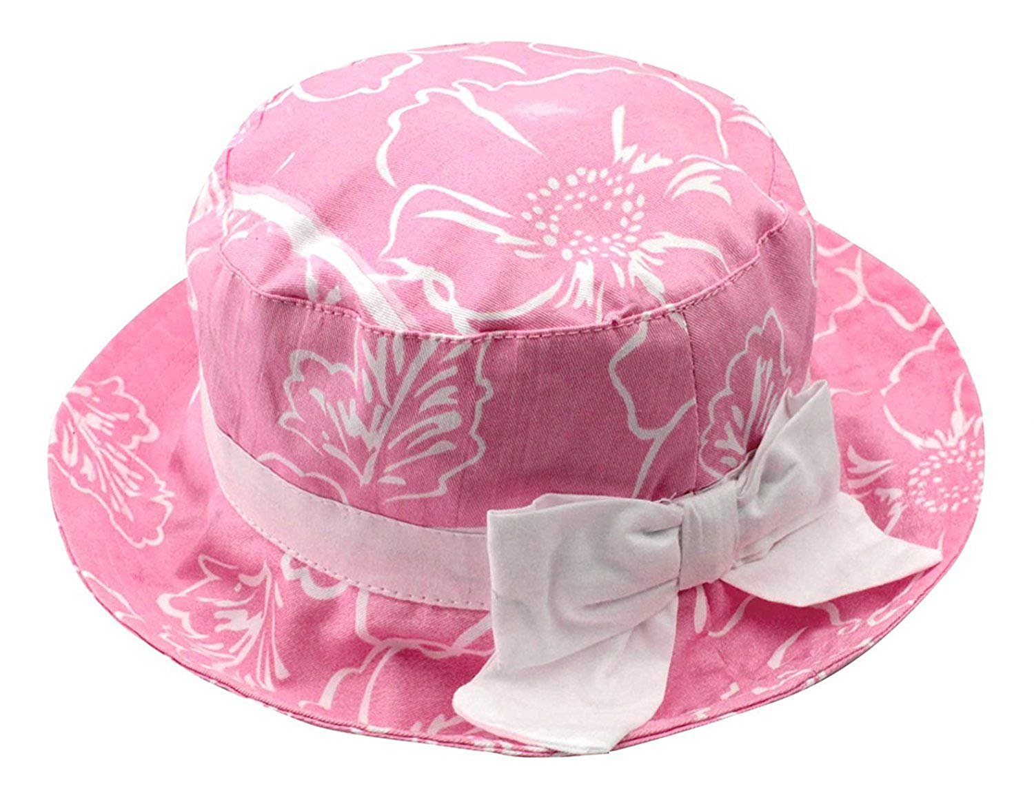 3a448fefdc8 Get Quotations · Jojobaby Baby Kids Cotton Bucket Sun Hat Fisherman Hat UV  Protective Hat with Chin Strap