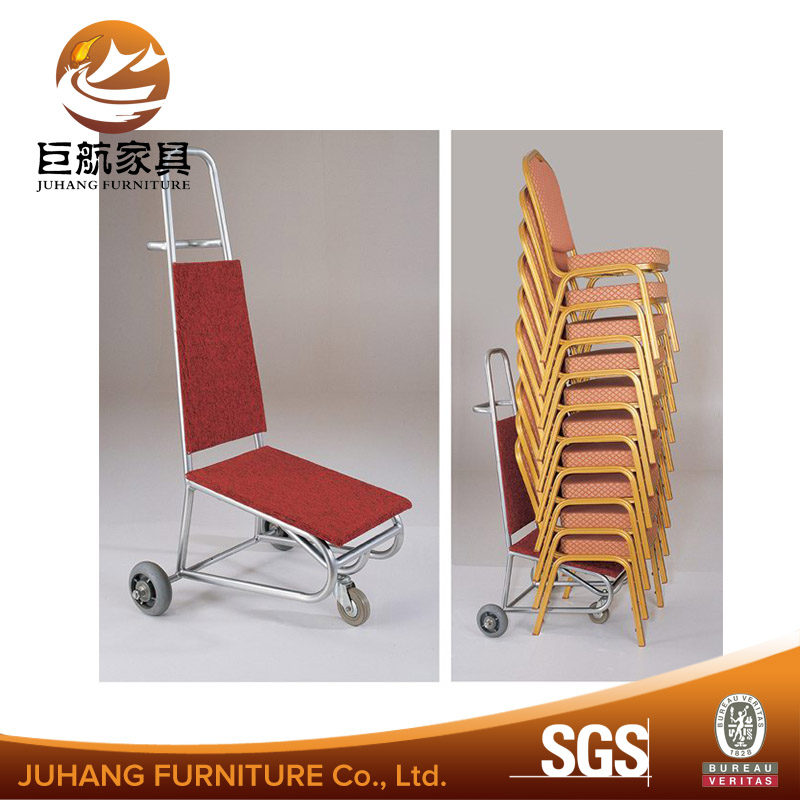 Convenient hotel banquet chair trolley
