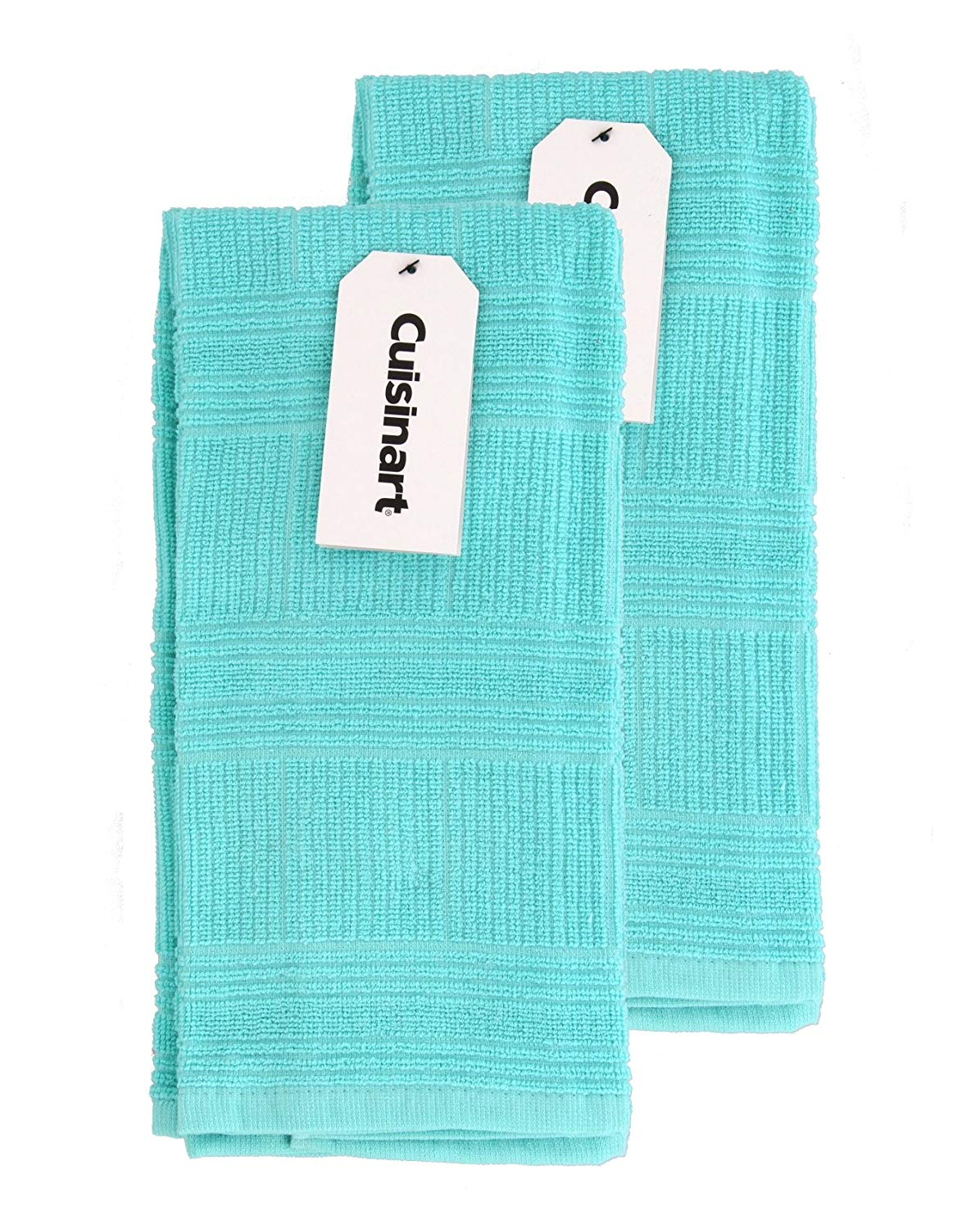 Microfiber Dish Towels Gift Set with Baking and Cooking Utensils Design Set of 2 Yellow and Teal Kitchen Dish Towels Comes in Organza Gift Bag