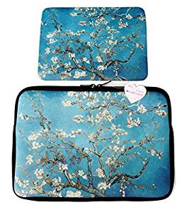 """Oh My Lady* 11-11.6"""" inch Van Gogh's Masterpiece (Almond Blossom) Oil Painting Neoprene Laptop Case/Sleeve/Bag/Pouch/Cover – Available in 7 Patterns"""