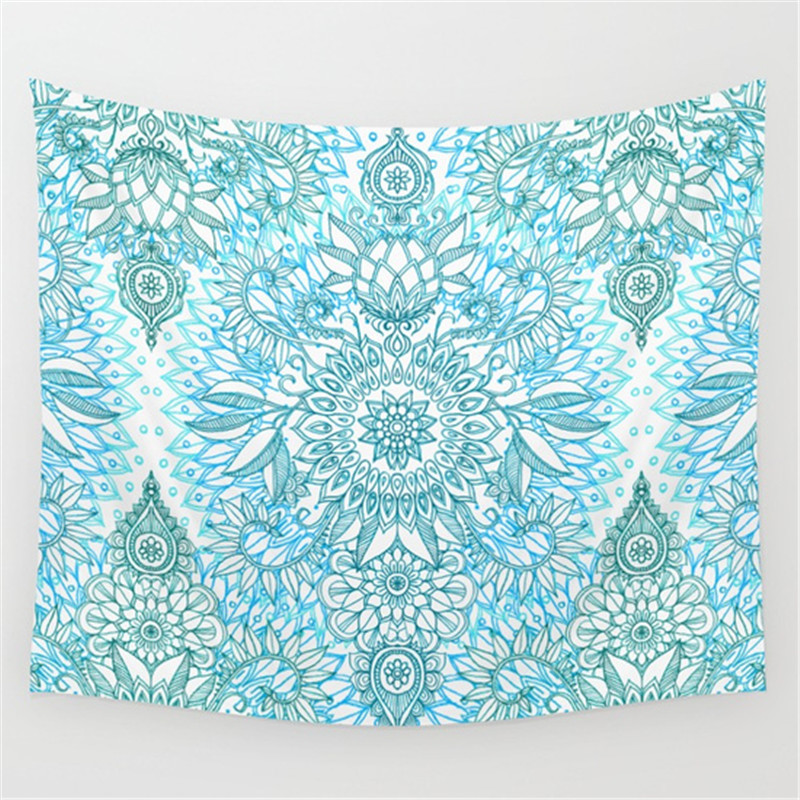 custom printing cotton bedspread picnic blanket wall hanging rectangle mandala indian tapestry