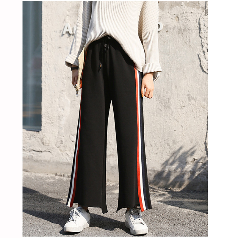 Hot Sale Sports Joggers Pants Fashion women Wide-legged pants