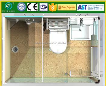 Complete All In One Design Prefab Smc Ready Made Modular Bathroom ...