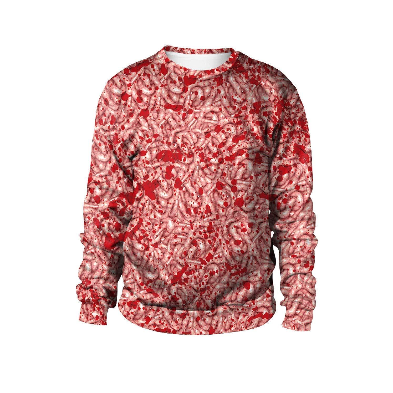 JYJSYM Halloween, Clothing/Sweater / Halloween Party Dress up Street Costumes New Round Neck,XXL