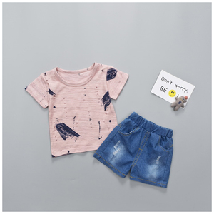 0-3 Year Wholesale New Design Fashion Organic Cottons Baby Clothes Sets Casual Kids Children
