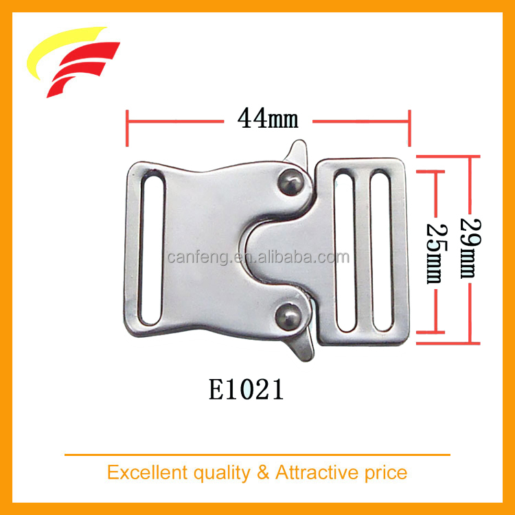 fashion 1 inch metal release buckle , 2 inch zinc alloy quice release buckle