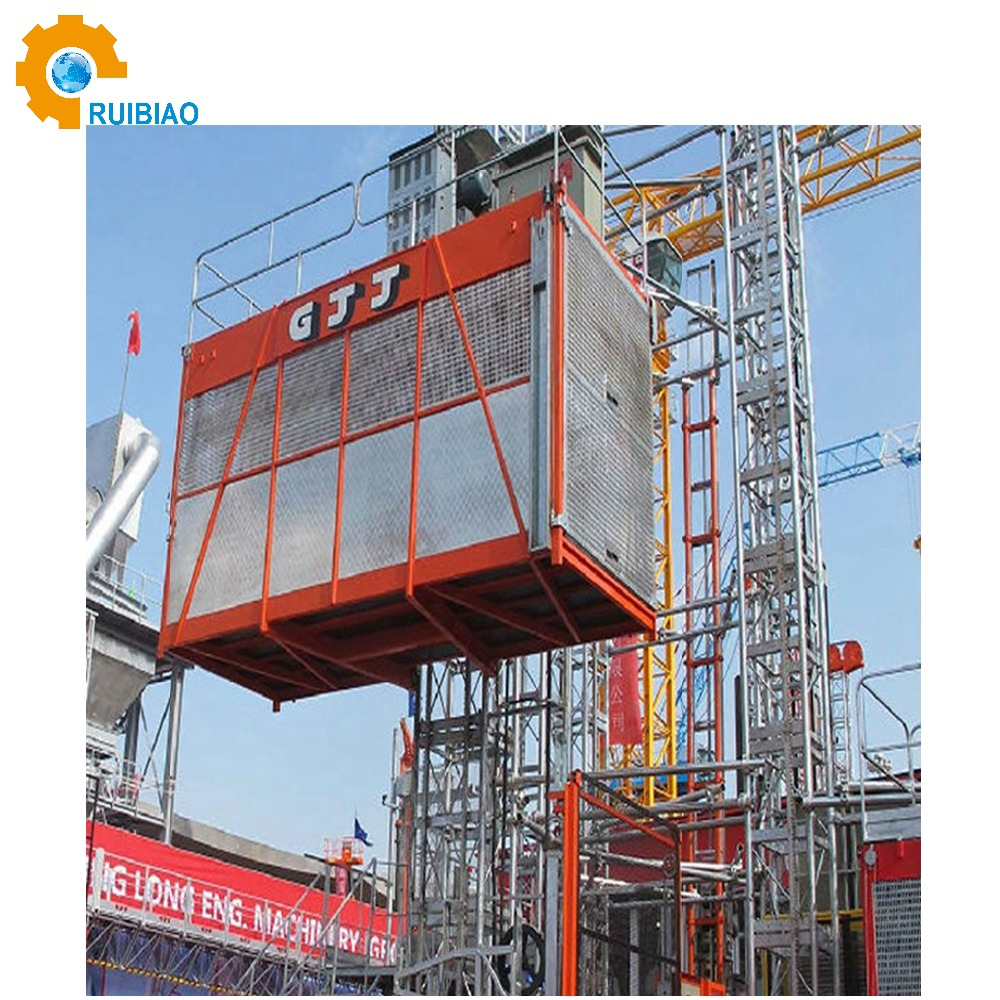 construction hoist single cage 1500kg construction hoist SC150 single cage construction passenger elevator hoist