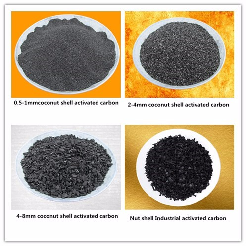 0.9-12mm Coal and Wood Activated Carbon for Beverage Plant Stable Quality