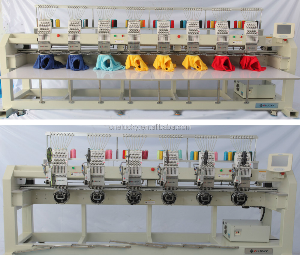Elucky EG908 embroidery machine like new brother with all accessories for cap and flat emrbroidery