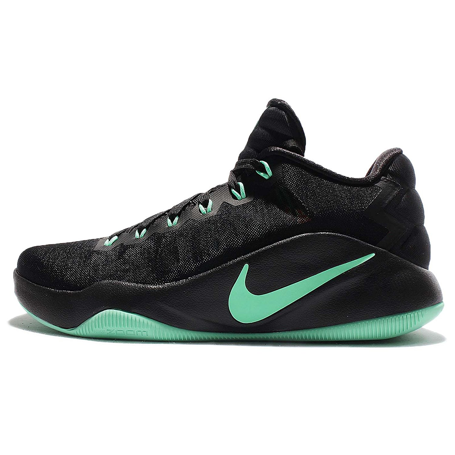 low priced d318c 0d6d1 Get Quotations · Nike Men s Hyperdunk 2016 Low Ep, BLACK GREEN GLOW, ...