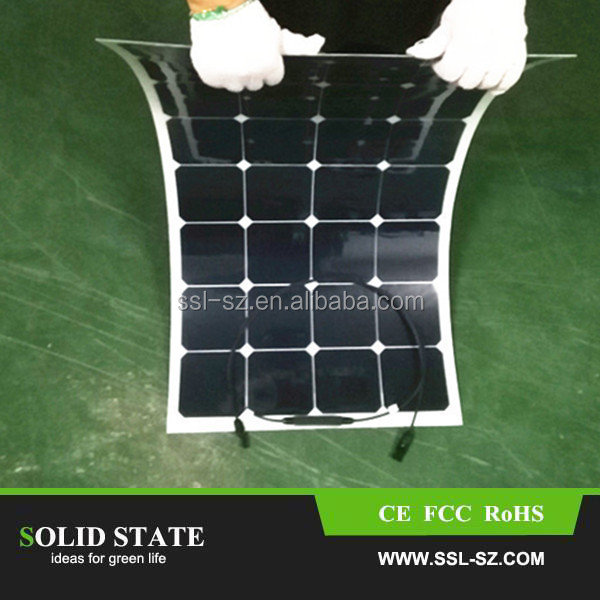 High efficency SUNPOWER 100W folding solar panel, cloth foldable solar panels