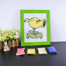 custom child easy snow clay drawing board / education toy for kid