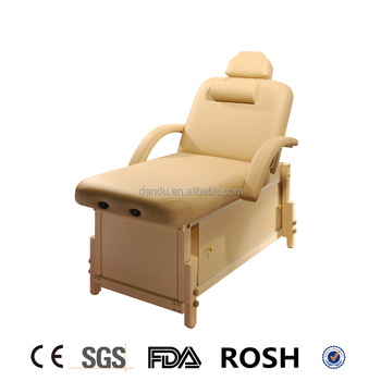 Deluxe Wooden Massage Table With Storage And Movable Door