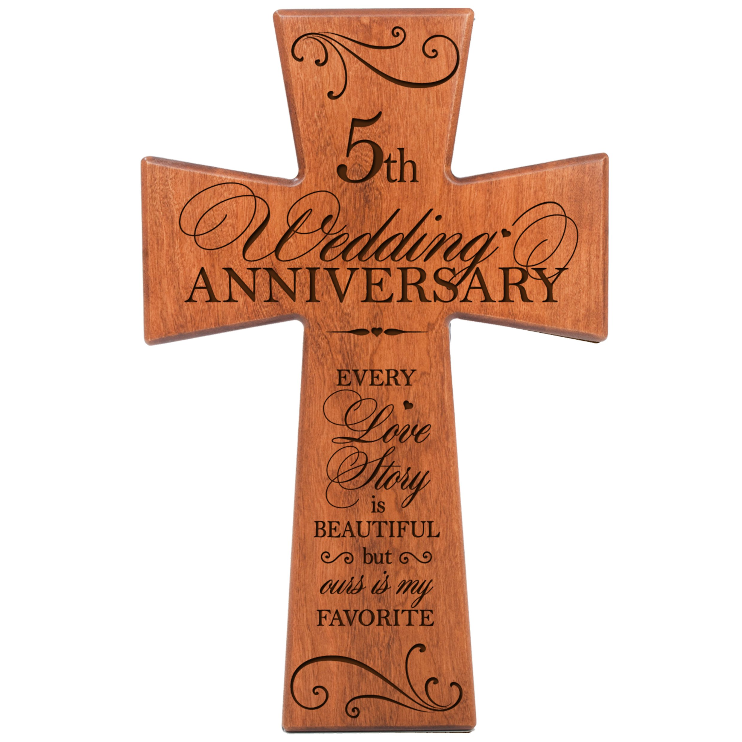 Fifth Wedding Anniversary Gift Ideas For Him: Buy 5th Wedding Anniversary Gift For Couple Cherry Wood