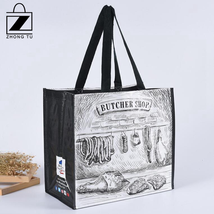 Cheap Price Large PP  Woven Tote Bag for Promotional and Shopping