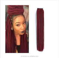 Faux Locs Soft Dread Braids Burgundy Colored Hair Extensions Synthetic Hairextensions Dreadlock Braiding Hair 20 Inch