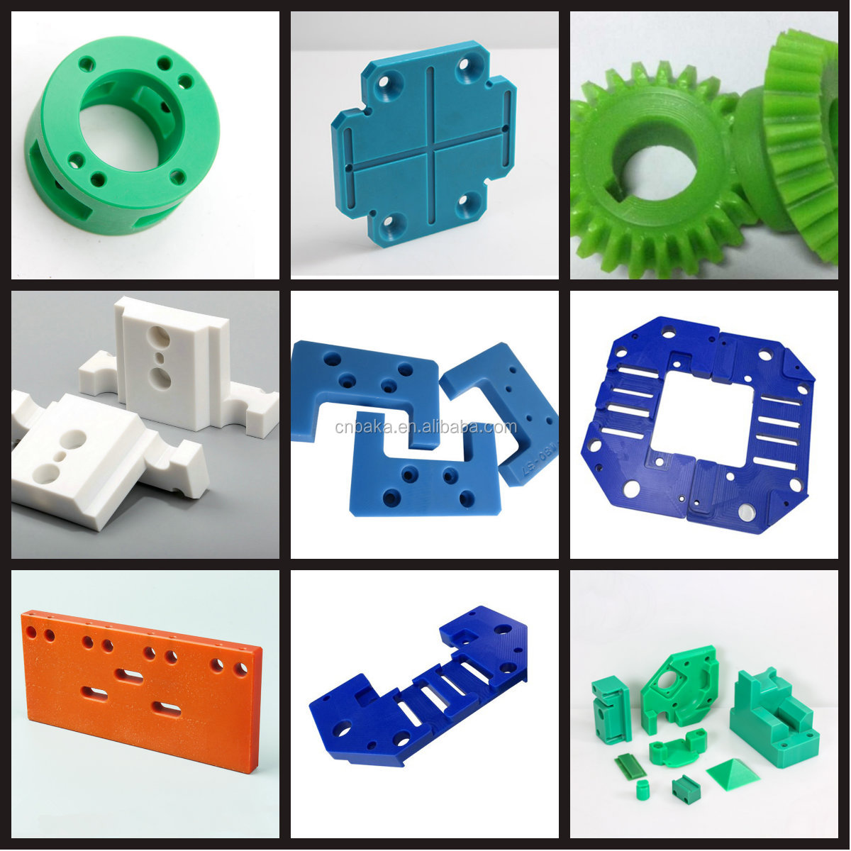 CNC machining nylon plastic for chemical machinery POM PEEK PPS material with deburrs OEM service
