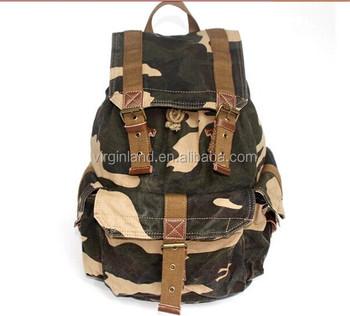 fc688685a3564 2350 Eğlence Okulu Tuval Kamuflaj Desen Askeri Sırt Çantası Erkekler için