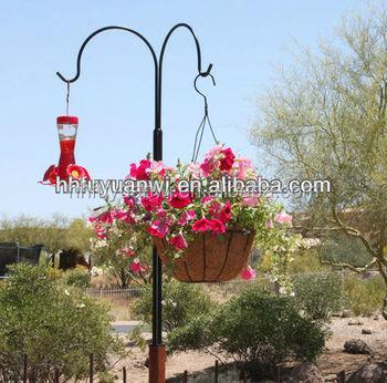 Attrayant Metal Hanging Double Garden Shepherd Plant Hook