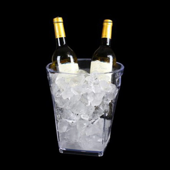 Printed 3L, 4L, 5L Plastic Transparent Wine ice bucket