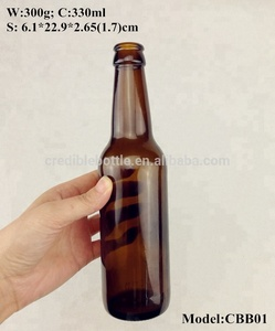 330ml amber beer bottles diverse styles