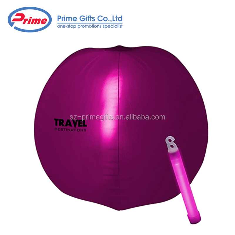 2018 China Supplier PVC Custom Light Up Beach Ball for Sale