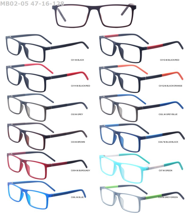 High quality cheap round style TR90 promotional colorful stock lot optical eyeglasses frame
