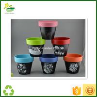 Black ceramic planter pots planters pots wholesale glazed flower pots cheap