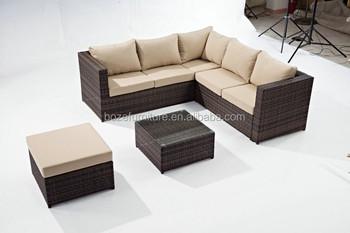 Garden Furniture Corner Sofa aluminum frame garden outdoor furniture sofa set,cube corner