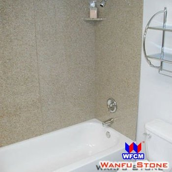 Rust Stone Granite Enclosed Showers Wall For Ceramic Bathtub - Buy ...