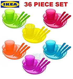 Buy IKEA KALAS Baby Kids Plastic Cups Plates Bowls Cutlery Mugs set ...