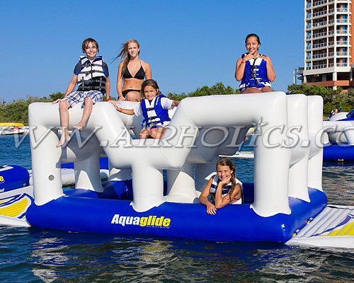 inflatable floating water slide aquaglide / inflatable aquaglide water slide / inflatable aqua floats W3068