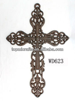 Cast Iron Cross Wall Decor Crafts
