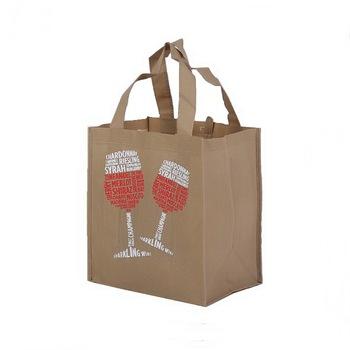 Custom Logo Promotional Six Bottles Pp Non Woven Wine Bag 100gsm Carrier