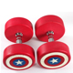 American Superman style dumbbell set / 40kg Round PU Dumbbells in Captain America Mark