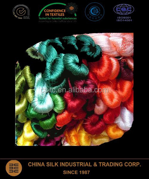 Chinese natural silk thread for embroidery and sewing