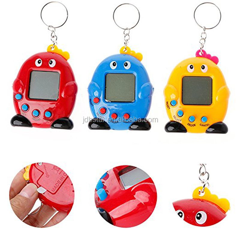 Hot selling electronic toy plastic pet game machine toy educational tamagotchi toys with battery
