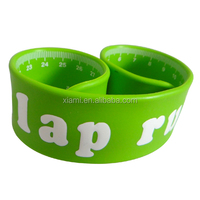 2016 promotional gift custom cheap printed rubber silicone ruler slap bracelet