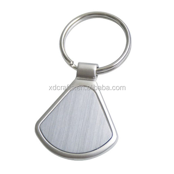 metal shell shaped blank keychain with car logo