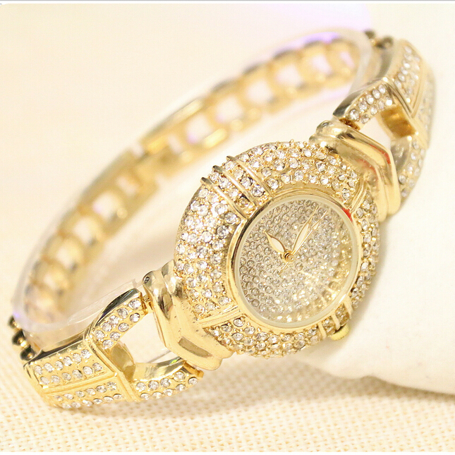 Hot Sales Women Rhinestone Watches Lady Diamond Stone Dress Watch Stainless Steel Band Bracelet Wristwatch ladies Crystal Watch