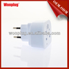 Good quality hot sale CE,RoHS approved travel adapter plug korea with lightning protection