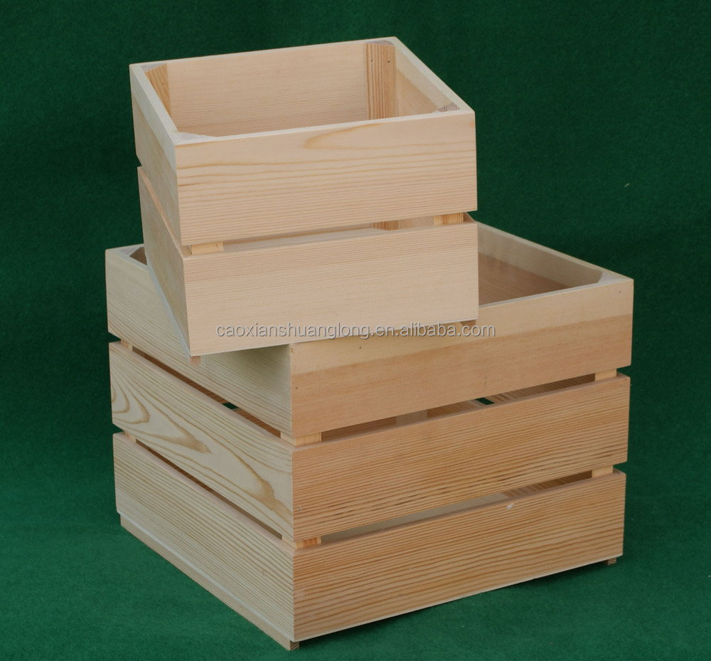 Legno di pino grezzo casse di vino di legno a buon mercato for For sale on line