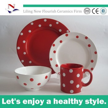 Red Christmas Dinnerware Sets Clearance Dotted Tableware Sets Buy
