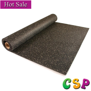 Heavy Duty Cheap Price Recycled Rubber Flooring Gym Roll Flooring Used Made  In China