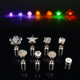 Star Shape Diamond Shape Color Changing Light Up Led Stud Earrings