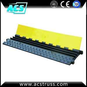 ACS Heavy duty 900*500*70mm 3 slots/holes cable protectors ,cable ramp floor cover, PVC cable protector